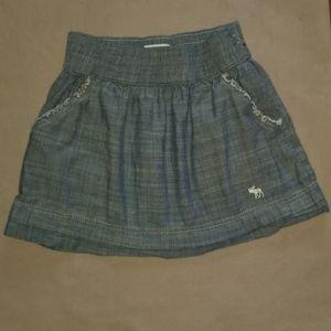 Abercrombie Kids Large Light Denim Skirt Large